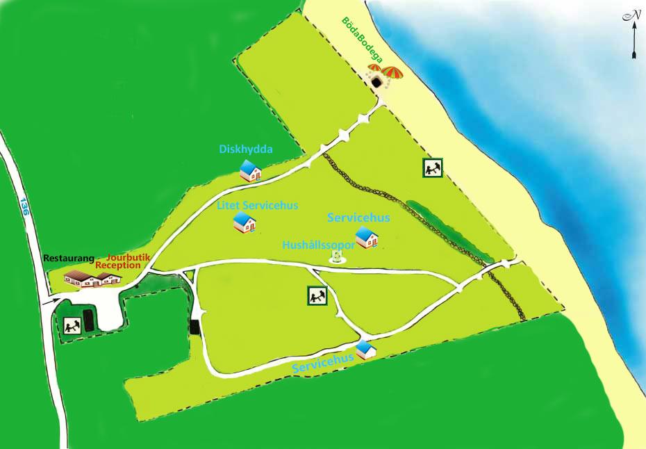 Facilitetskarta Böda Riviera - Kyrketorp