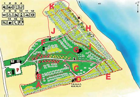 Böda Riviera - karta över området